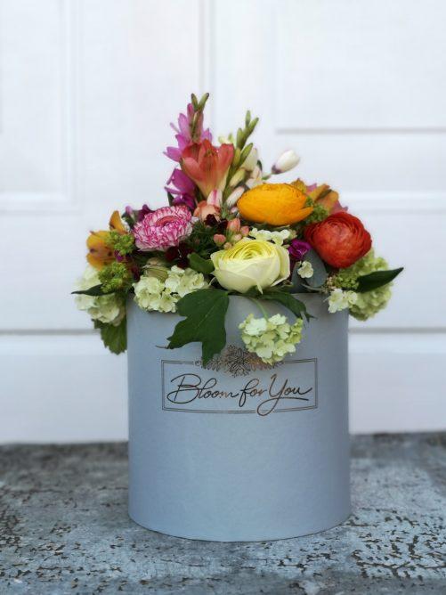 Blumenbox Blumen in einem Gefäß
