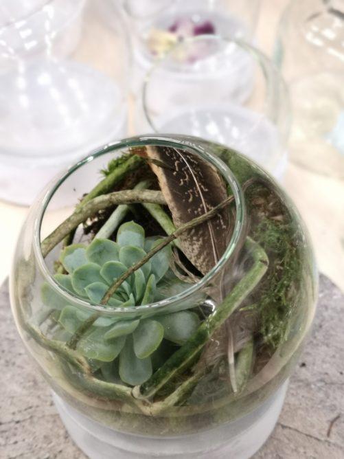 kleine Florale Glaskugel